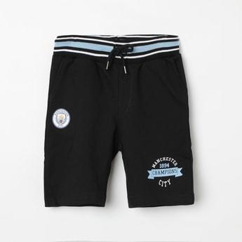 MANCHESTER CITY F.C. Patch Print Drawstring Waist Shorts