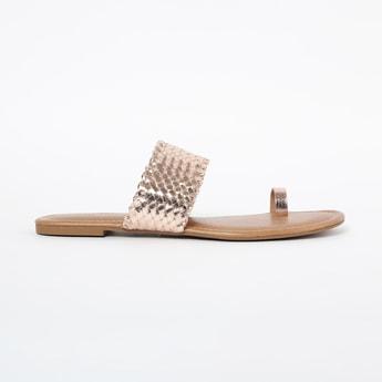 INC.5 Toe-Ring Braided Flat Sandals