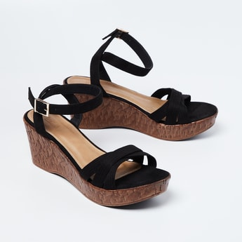 INC.5 Textured Wedges with Ankle Straps