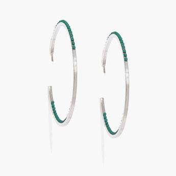 TONIQ Embellished Hoop Earrings