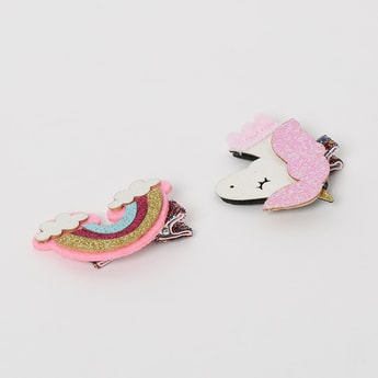 TONIQ KIDS Alligator Hair Clips with Textured Accents - Set of 2 Pcs.