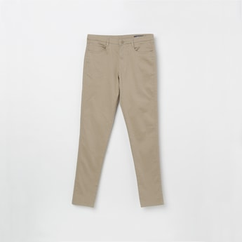 ALLEN SOLLY Solid Flat Front Trousers