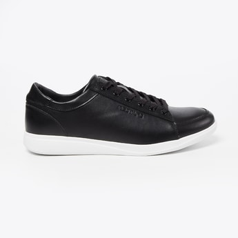 RED TAPE Genuine Leather Textured Low-Top Casual Shoes