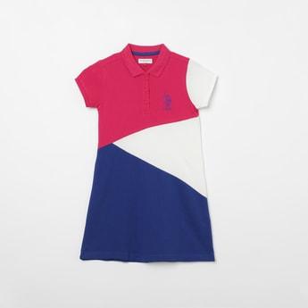 U.S. POLO ASSN. KIDS Colourblock T-shirt Dress
