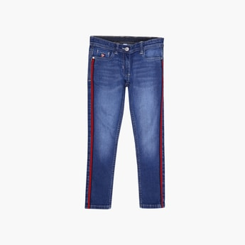 U.S. POLO ASSN. KIDS Stonewashed Slim Fit Jeans