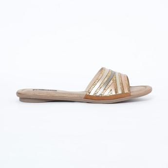 RAW HIDE Embellished Flat Sandals