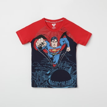 KIDSVILLE Superman Print Crew Neck T-shirt