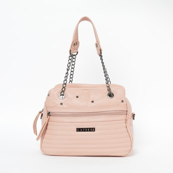 CAPRESE Quilted Handbag with Detachable Strap