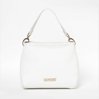 CAPRESE Solid Handheld Bag with Detachable Strap