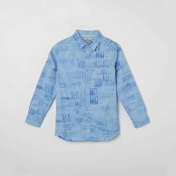LEE COOPER JUNIORS Printed Full Sleeves Casual Shirt