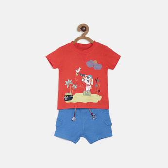 FS MINI KLUB Printed T-shirt and Solid Shorts