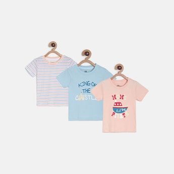 FS MINI KLUB Printed Crew-Neck T-shirts - Pack of 3 Pcs.