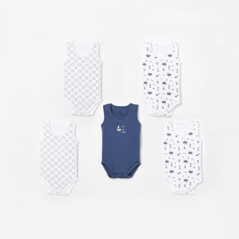 JUNIORS BASICS Printed Bodysuit - Pack of 5