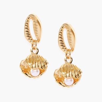 TONIQ Gold-Toned Drop Earrings