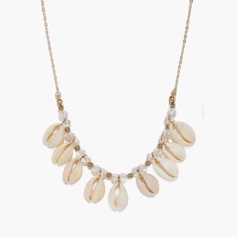 TONIQ Shell Embellished Necklace