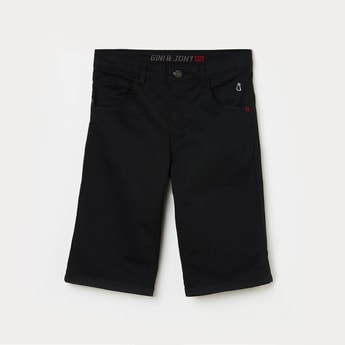 GINY & JONY Boys Solid Button-Up Waist Shorts