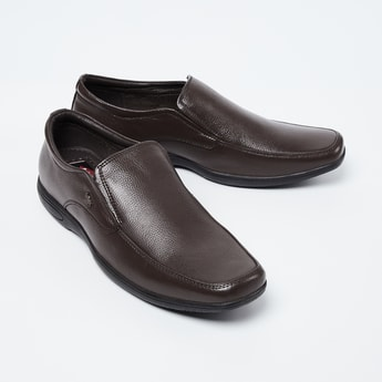 LEE COOPER Genuine Leather Textured Loafers
