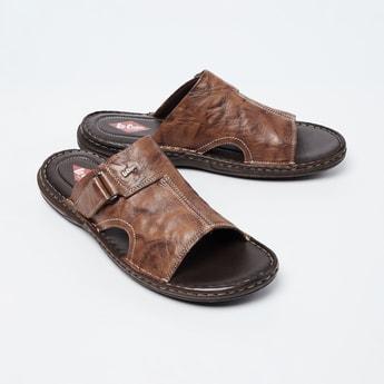 LEE COOPER Genuine Leather Textured Sandals