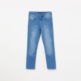FAME FOREVER KIDS Boys Stonewashed Slim Fit Jeans