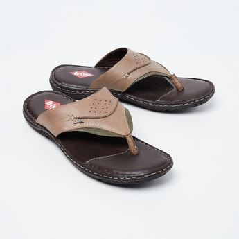 LEE COOPER Genuine Leather Thong Sandals