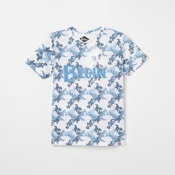 LEE COOPER JUNIORS Printed Short Sleeves Crew Neck T-shirt