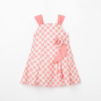 PEPPERMINT Polka Print Sleeveless Dress