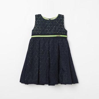 PEPPERMINT Schiffli Detail Sleeveless Dress