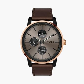 TIMEX Men Multifunction Watch with Leather Strap - TWEG18903