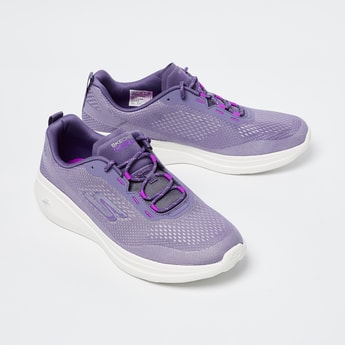 SKECHERS Textured Lace-Up Sports Shoes