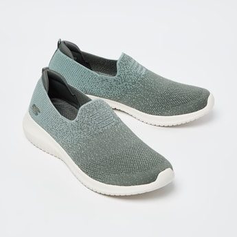SKECHERS Textured Lace-Up Slip-On Shoes