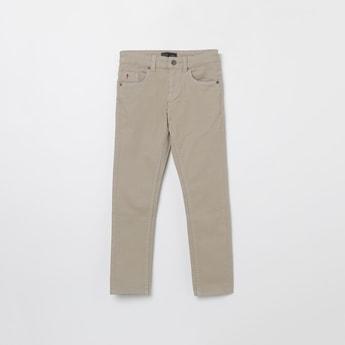 INDIAN TERRAIN Textured Regular Fit 5-Pocket Jeans