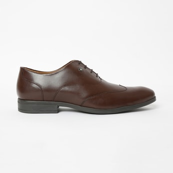 LOUIS PHILIPPE Genuine Leather Wingtip Oxford Shoes