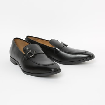 LOUIS PHILIPPE Genuine Leather Monk Shoes