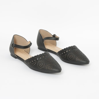ALLEN SOLLY Laser-Cut d'Orsays with Scalloped Trim