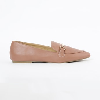 ALLEN SOLLY Pointed-Toe Bit Loafers