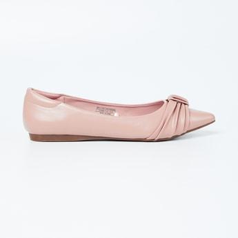 ALLEN SOLLY Solid Pointed-Toe Ballerinas