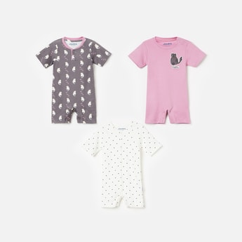 JUNIORS BASICS Printed Short Sleeves Bodysuit- Pack of 3