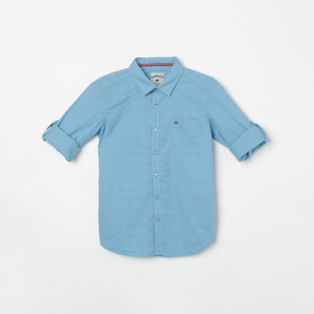 LEE COOPER JUNIORS Textured Regular Fit Casual Shirt