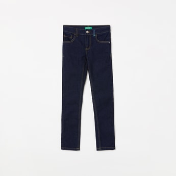UNITED COLORS OF BENETTON Boys Solid Slim Fit Jeans