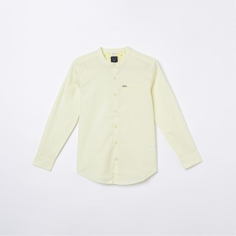 ALLEN SOLLY Solid Full Sleeves Casual Shirt