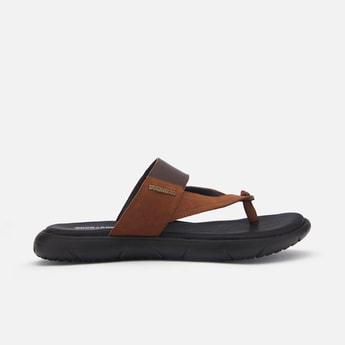 BUCKAROO Men Genuine Leather T-strap Sandals