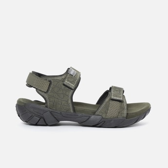 WOODLAND Genuine Leather Textured Floater Sandals