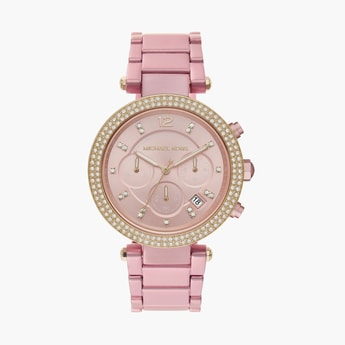 MICHAEL KORS Women Embellished Analog Watch- MK6806I