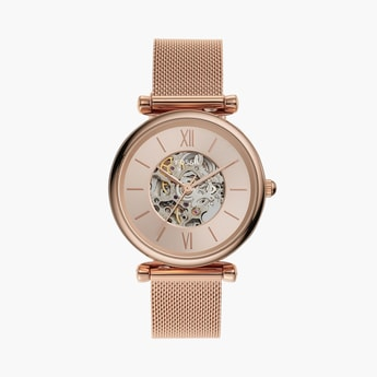FOSSIL Women Analog Watch with Mesh Strap - ME3175