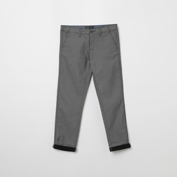 INDIAN TERRAIN Textured Regular Fit Trousers