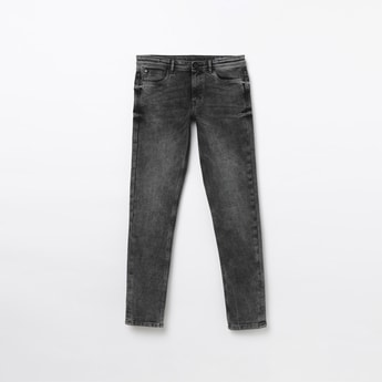 ALLEN SOLLY Stonewashed Slim Fit Jeans