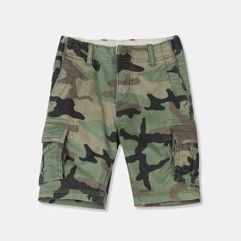 GAP Boys Camouflage Print Cargo Shorts