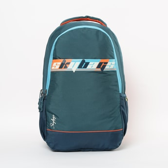 SKYBAGS Printed Colourblock Backpack with Rain Cover