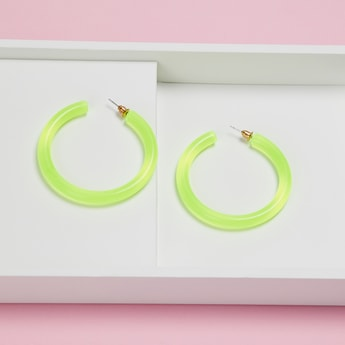 TONIQ Women Solid Semi-Hoops