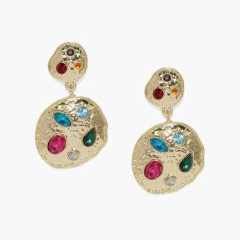 TONIQ Embellished Drop Earrings